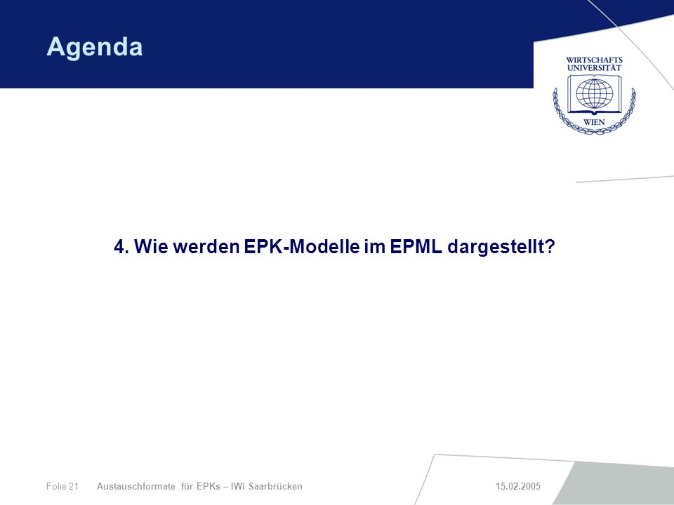 4. Wie werden EPK-Modelle im EPML dargestellt