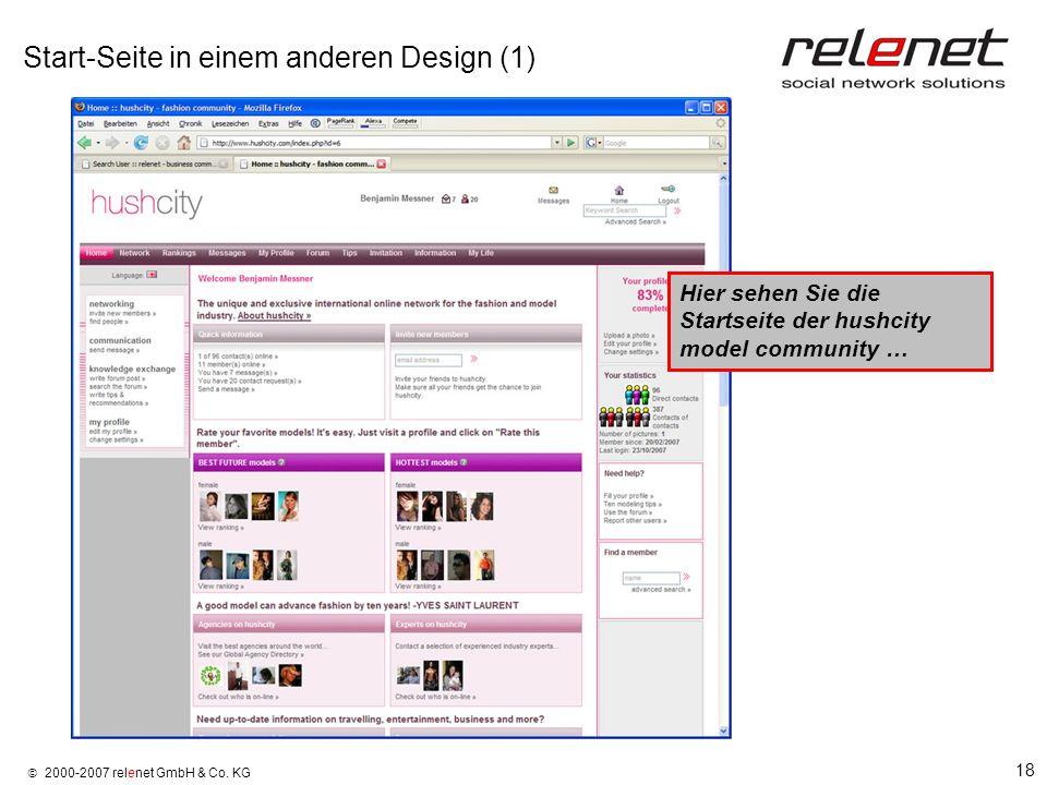 Start-Seite in einem anderen Design (1)