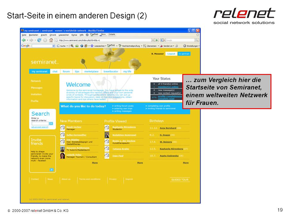 Start-Seite in einem anderen Design (2)