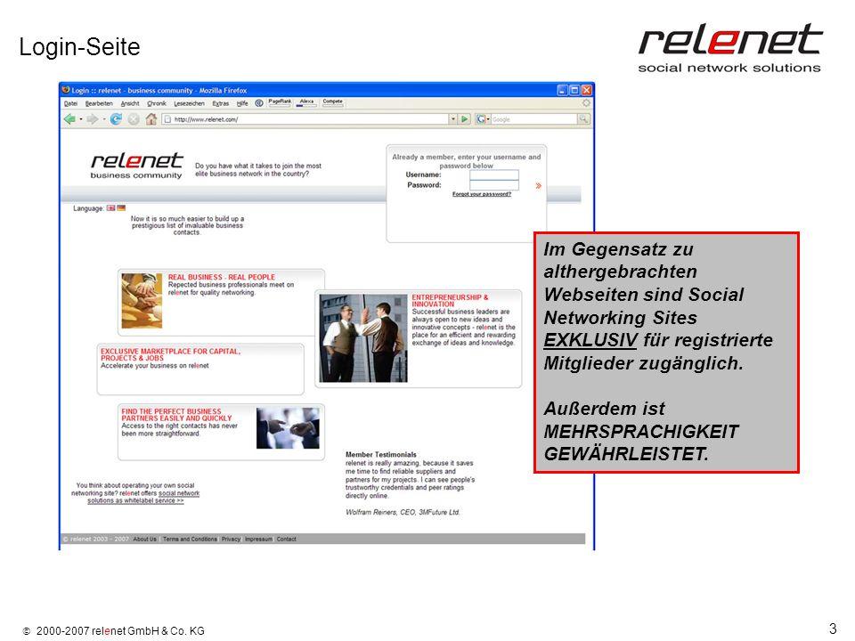 Login-Seite Im Gegensatz zu althergebrachten Webseiten sind Social Networking Sites EXKLUSIV für registrierte Mitglieder zugänglich.