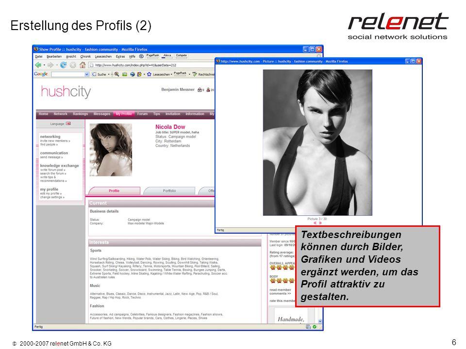 Erstellung des Profils (2)