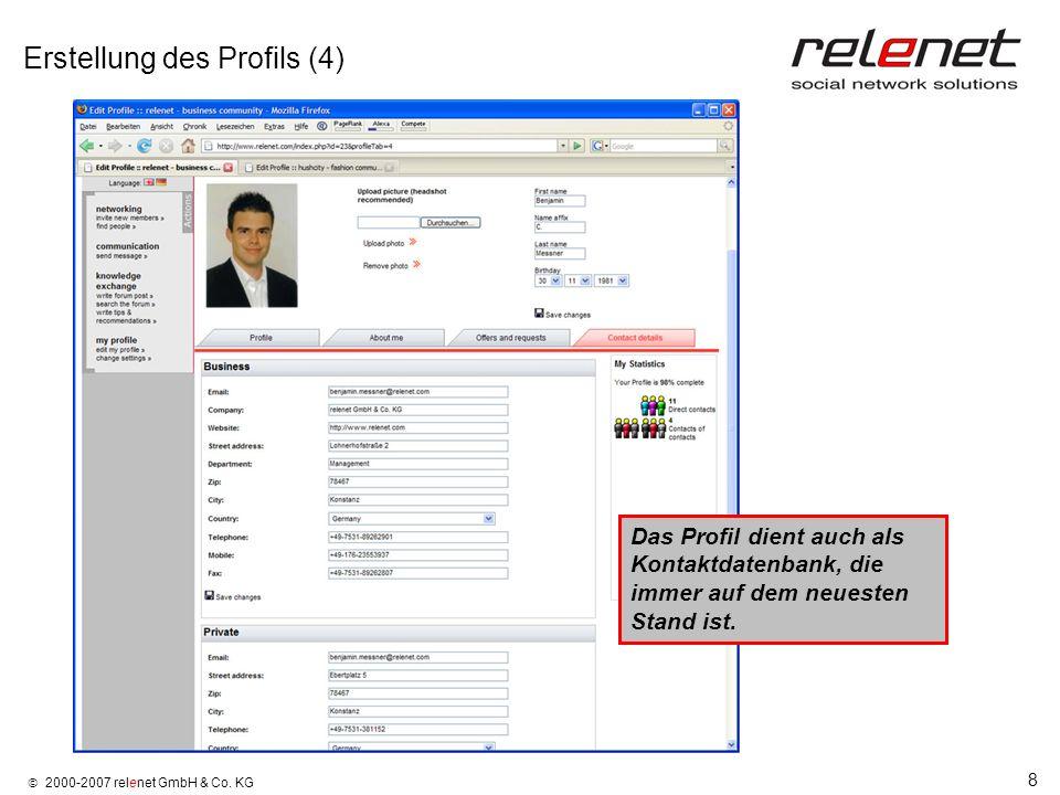 Erstellung des Profils (4)