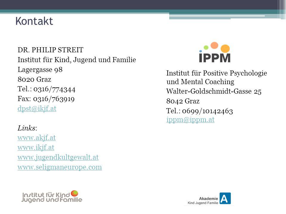 Kontakt DR. PHILIP STREIT Institut für Kind, Jugend und Familie