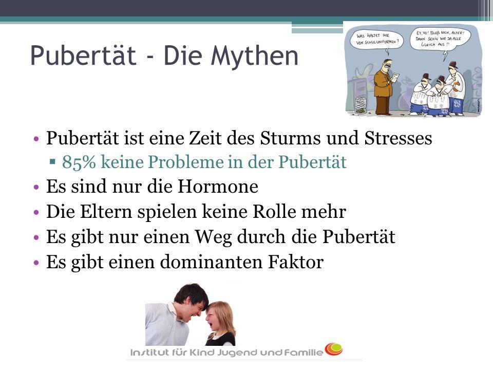Pubertät - Die Mythen Pubertät ist eine Zeit des Sturms und Stresses
