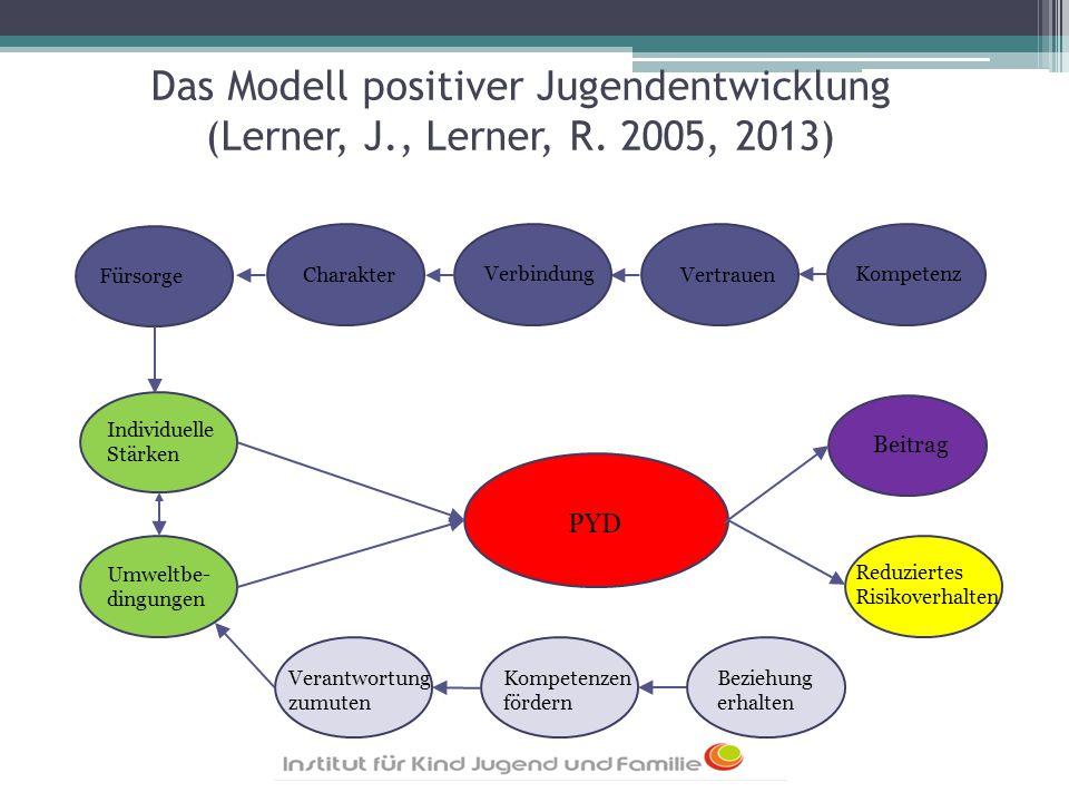 Das Modell positiver Jugendentwicklung (Lerner, J. , Lerner, R
