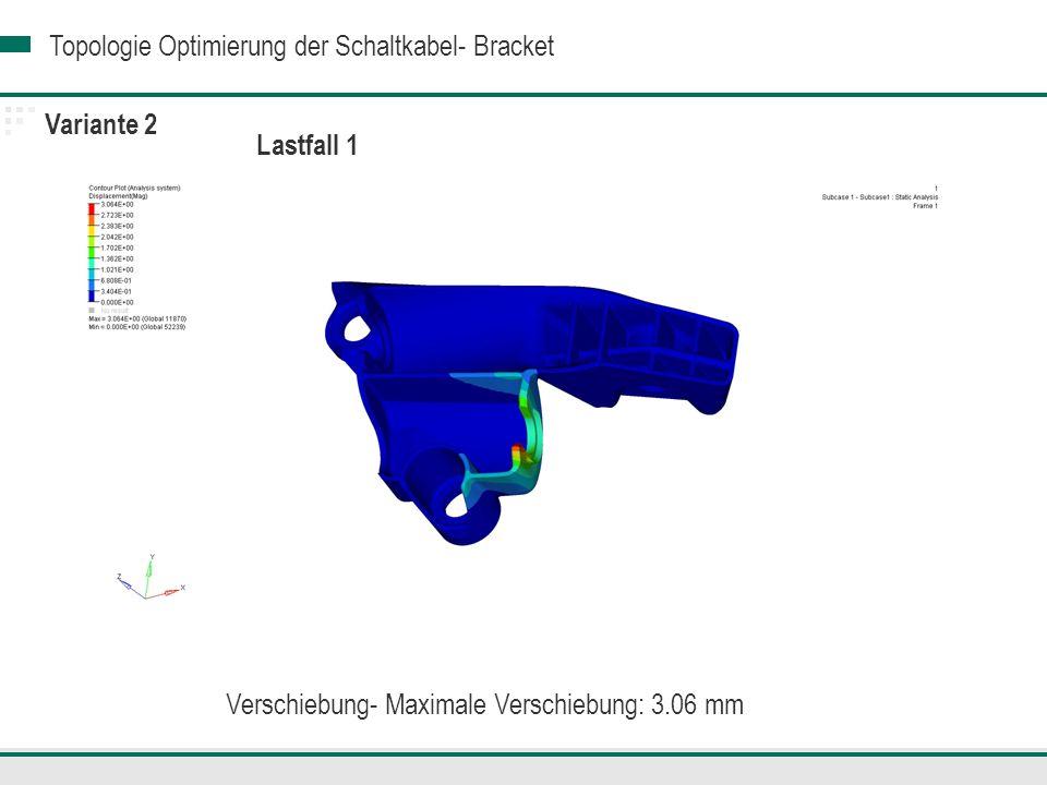 Verschiebung- Maximale Verschiebung: 3.06 mm
