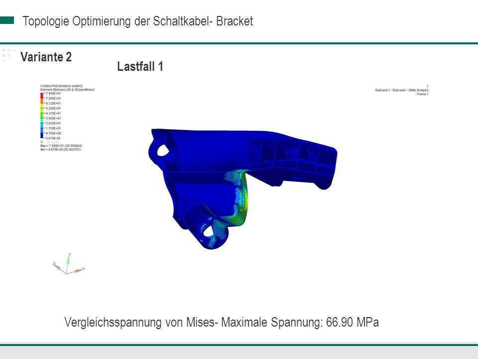 Vergleichsspannung von Mises- Maximale Spannung: 66.90 MPa
