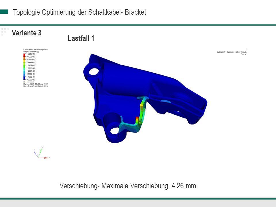 Verschiebung- Maximale Verschiebung: 4.26 mm