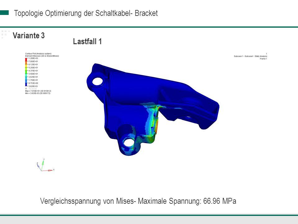 Vergleichsspannung von Mises- Maximale Spannung: 66.96 MPa