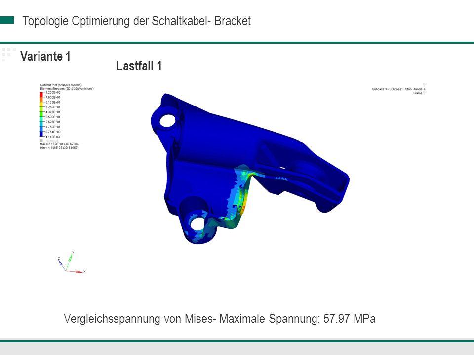 Vergleichsspannung von Mises- Maximale Spannung: 57.97 MPa