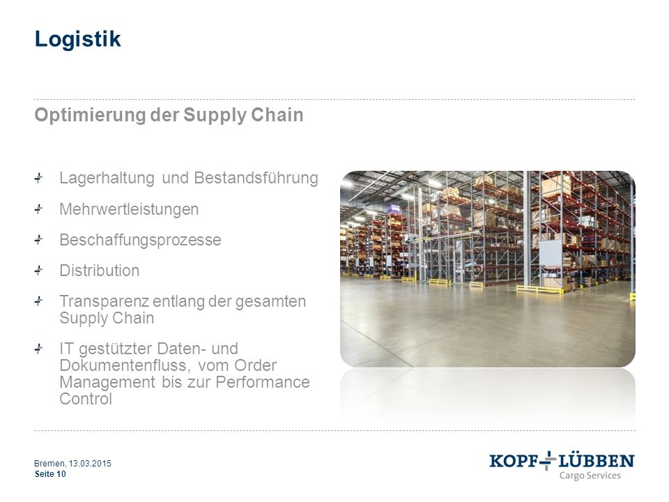 Logistik Optimierung der Supply Chain Lagerhaltung und Bestandsführung
