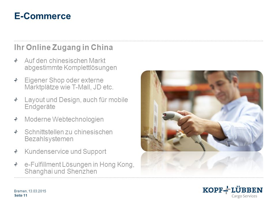 E-Commerce Ihr Online Zugang in China