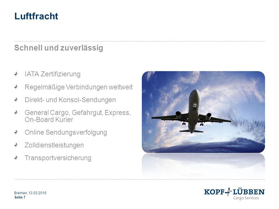 Luftfracht Schnell und zuverlässig IATA Zertifizierung