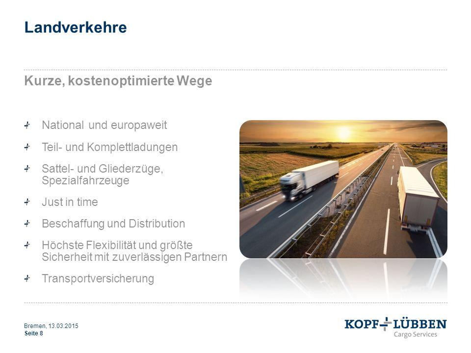 Landverkehre Kurze, kostenoptimierte Wege National und europaweit