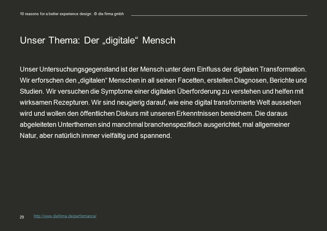 """Unser Thema: Der """"digitale Mensch"""