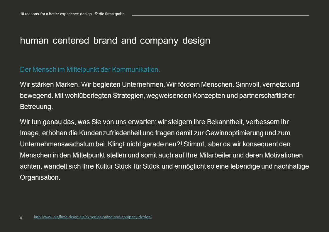 human centered brand and company design