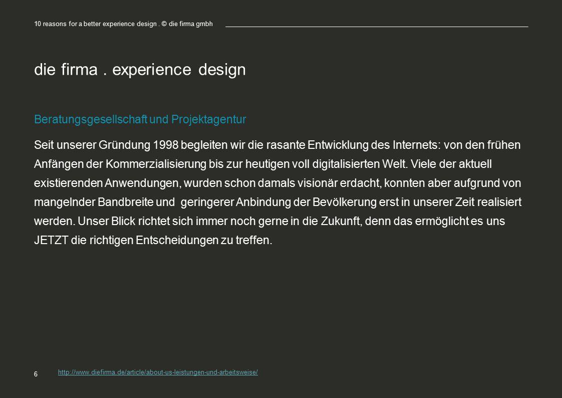 die firma . experience design