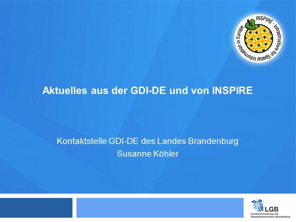Kontaktstelle GDI-DE des Landes Brandenburg