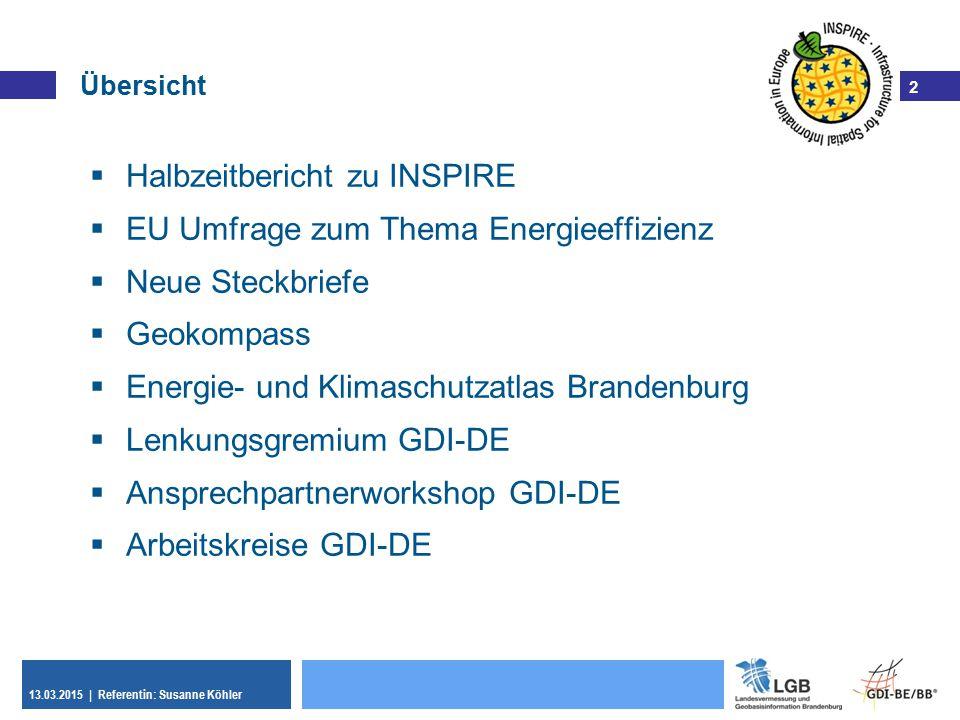 Halbzeitbericht zu INSPIRE EU Umfrage zum Thema Energieeffizienz