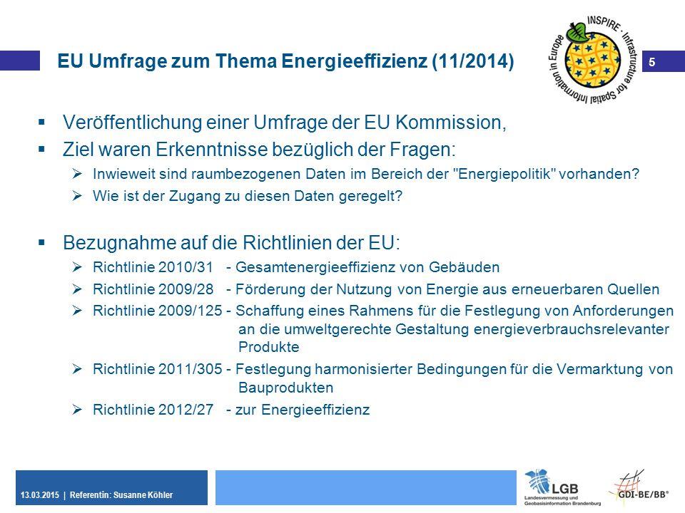 EU Umfrage zum Thema Energieeffizienz (11/2014)