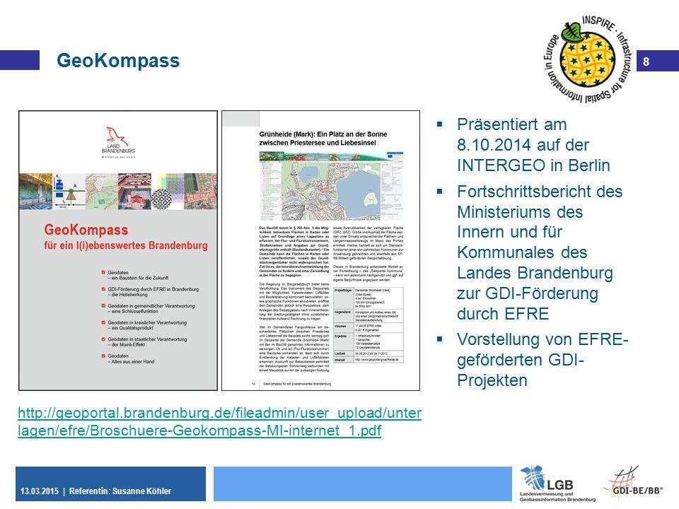GeoKompass Präsentiert am 8.10.2014 auf der INTERGEO in Berlin