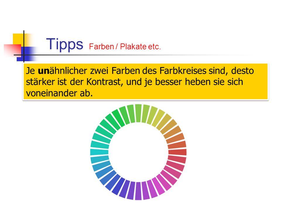 Tipps Farben / Plakate etc.