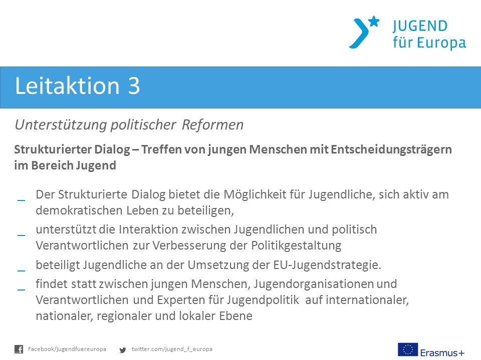 Leitaktion 3 Unterstützung politischer Reformen