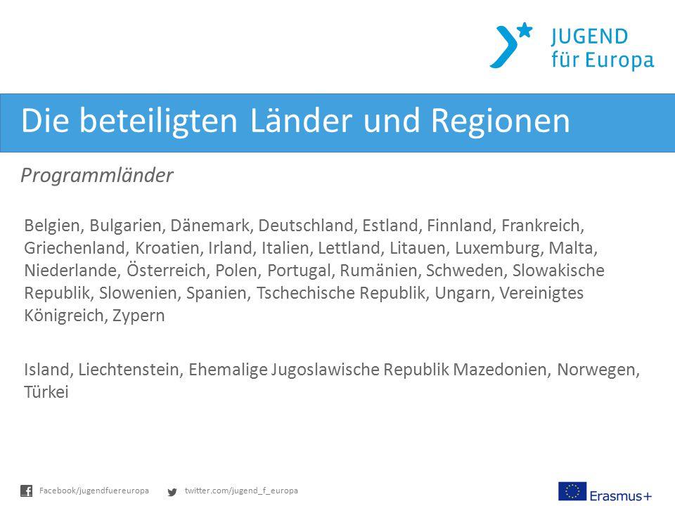 Die beteiligten Länder und Regionen