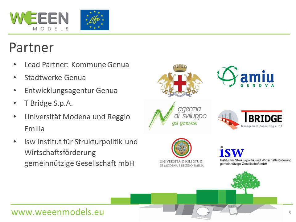 Partner Lead Partner: Kommune Genua Stadtwerke Genua