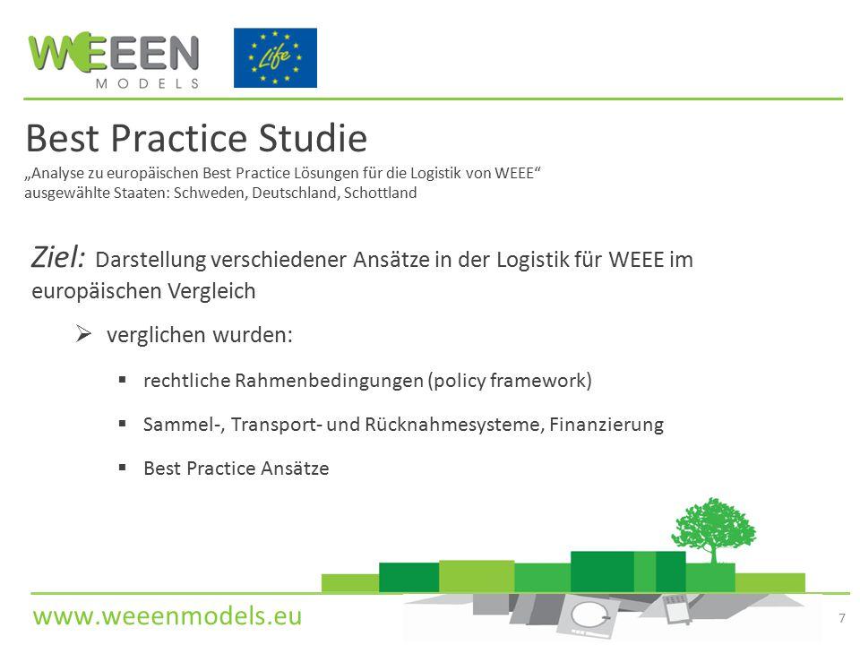 """Best Practice Studie """"Analyse zu europäischen Best Practice Lösungen für die Logistik von WEEE ausgewählte Staaten: Schweden, Deutschland, Schottland"""