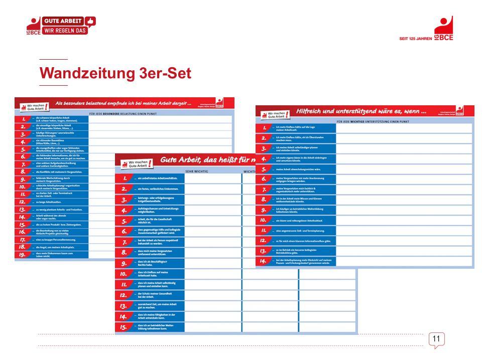 Wandzeitung 3er-Set