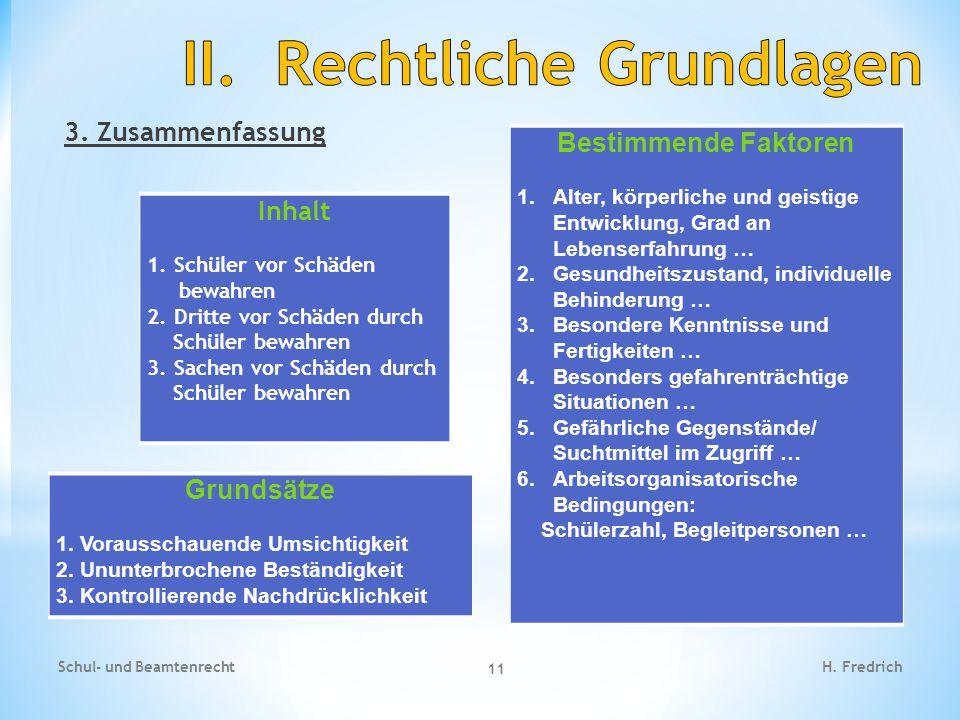 II. Rechtliche Grundlagen