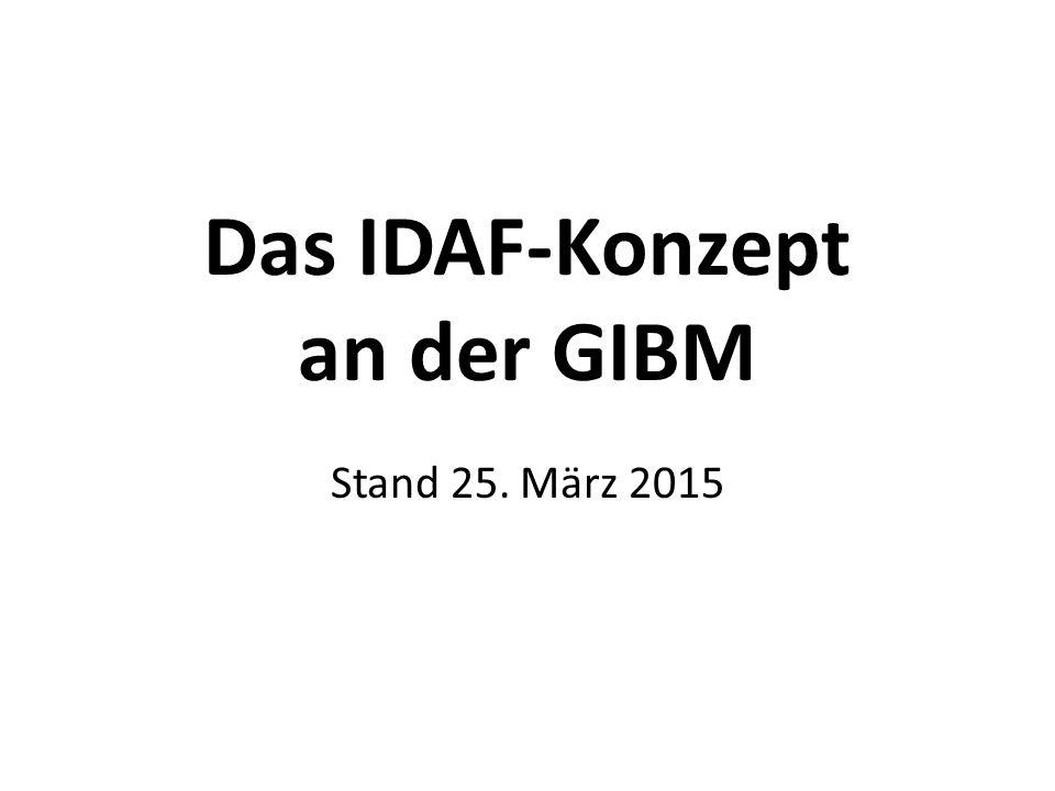 Das IDAF-Konzept an der GIBM