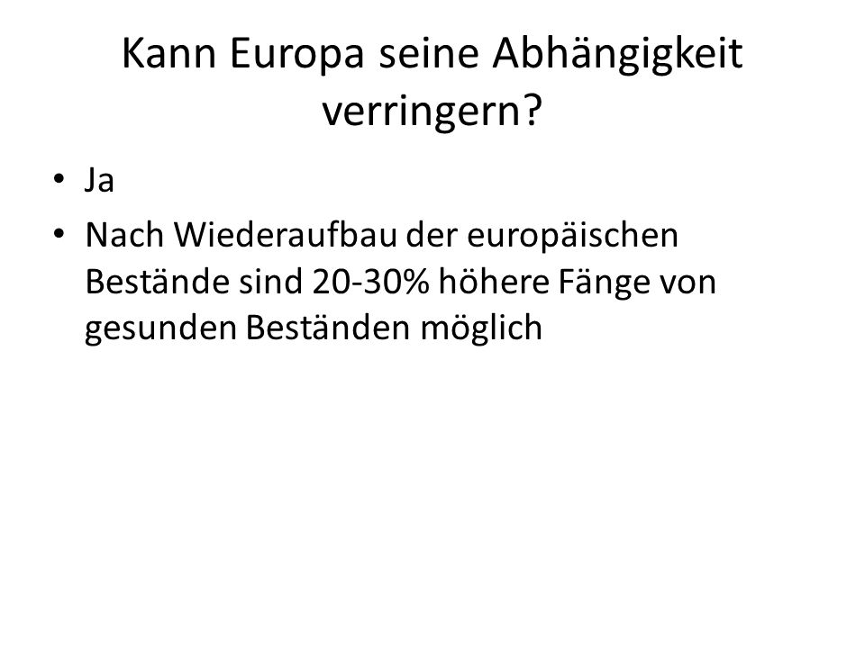 Kann Europa seine Abhängigkeit verringern