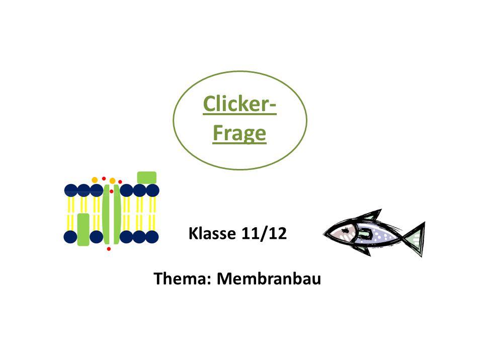 Clicker- Frage Klasse 11/12 Thema: Membranbau
