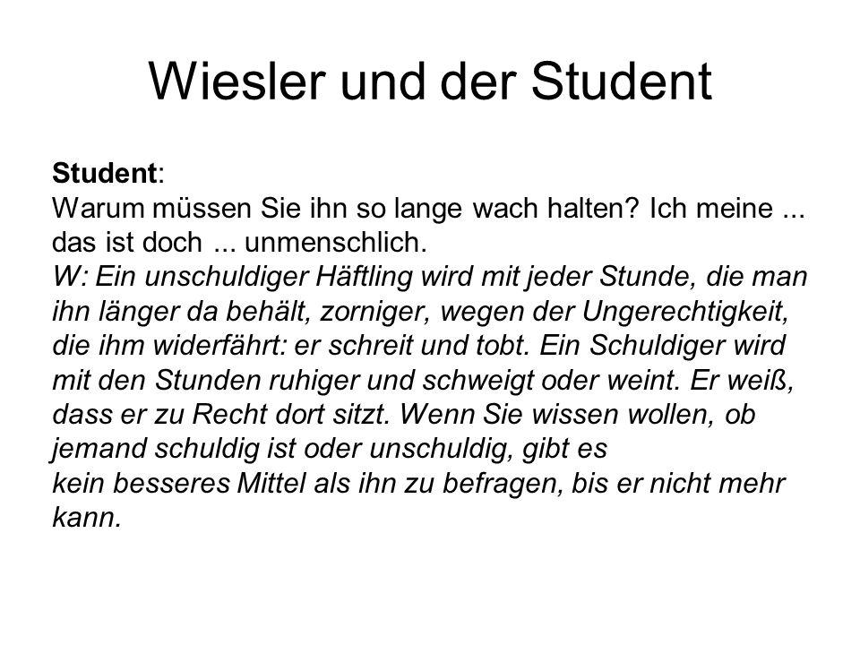Wiesler und der Student