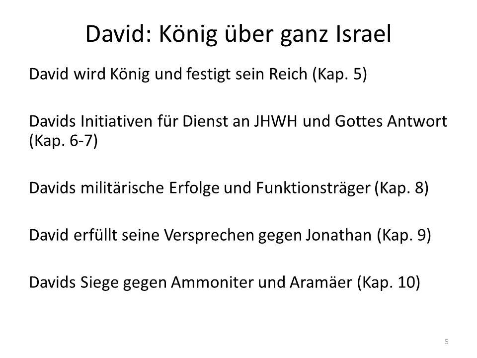 David: König über ganz Israel