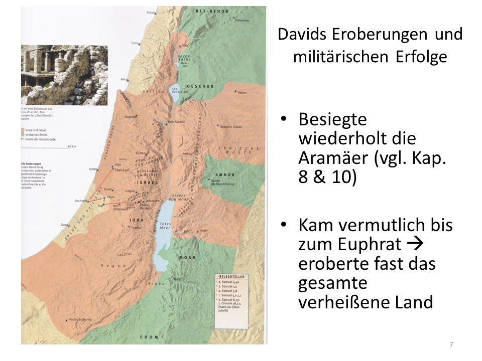 Davids Eroberungen und militärischen Erfolge