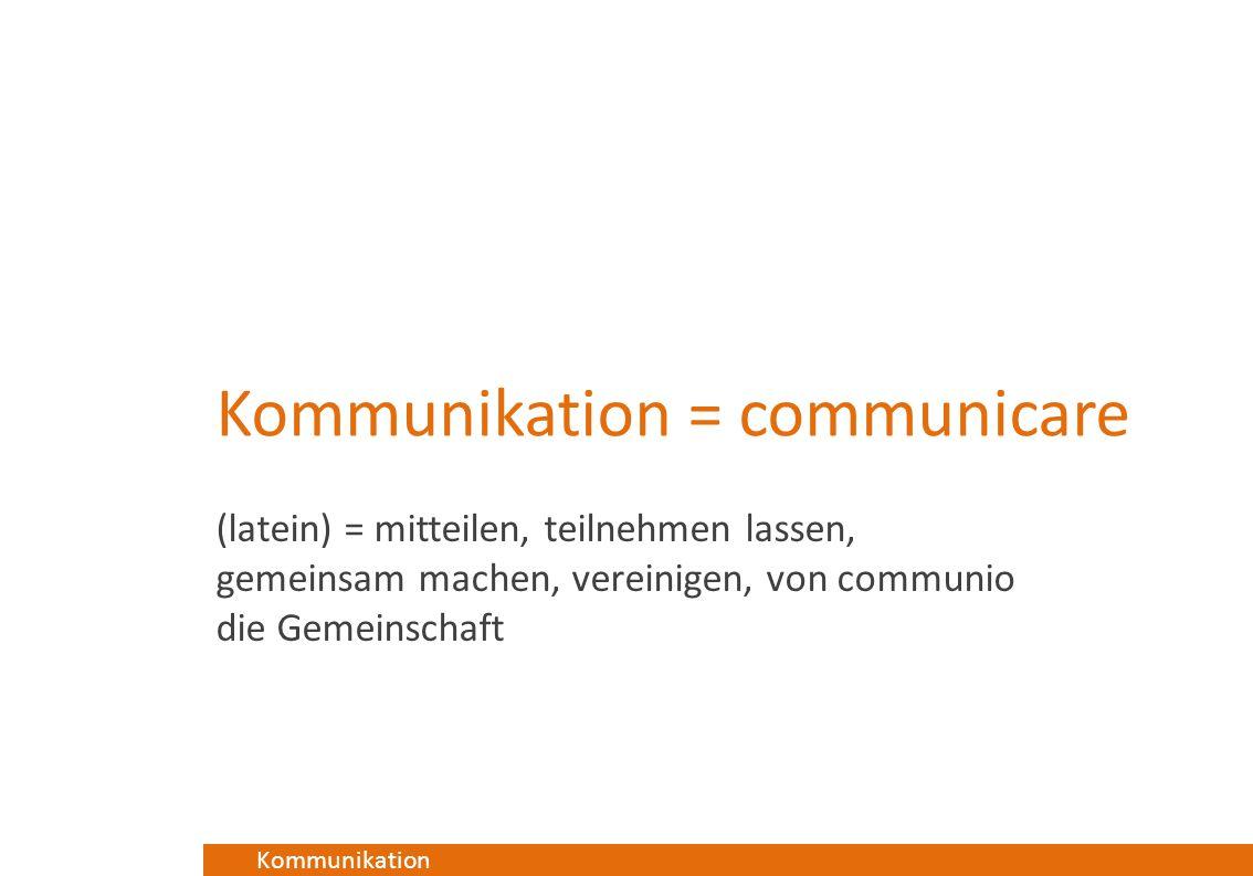 Kommunikation = communicare