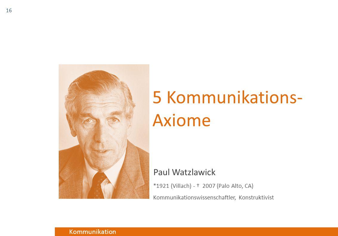 5 Kommunikations-Axiome