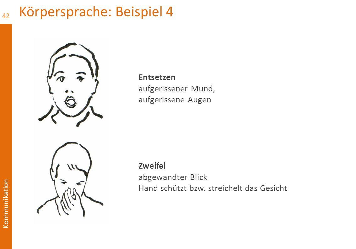 Körpersprache: Beispiel 4