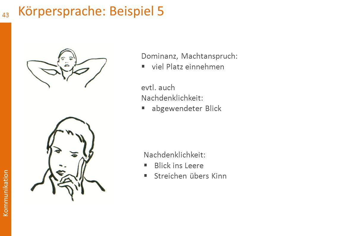 Körpersprache: Beispiel 5