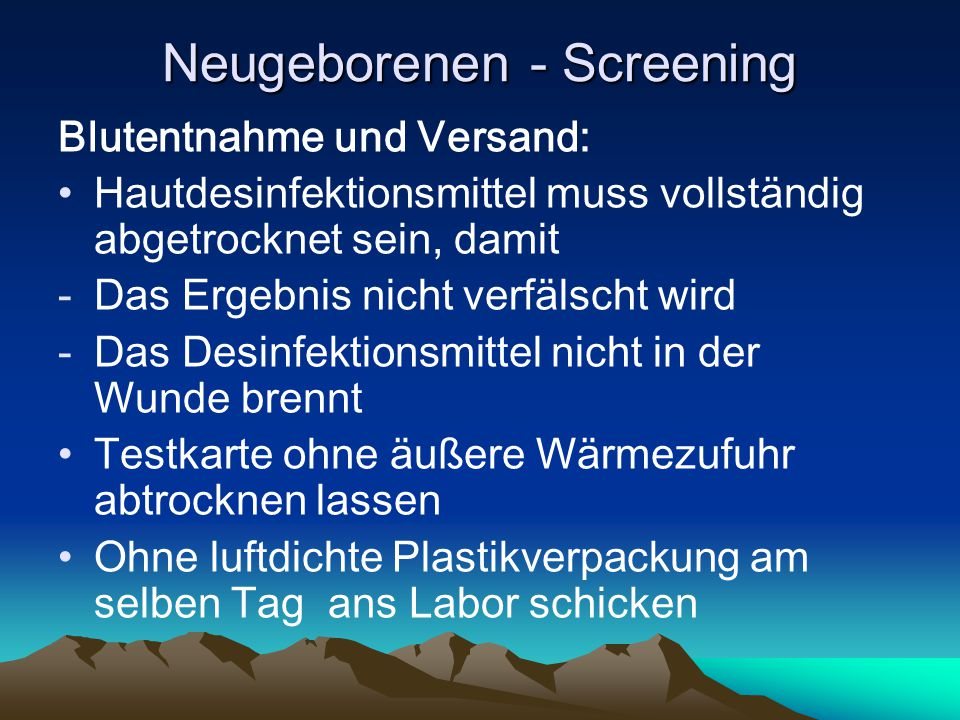 Neugeborenen - Screening