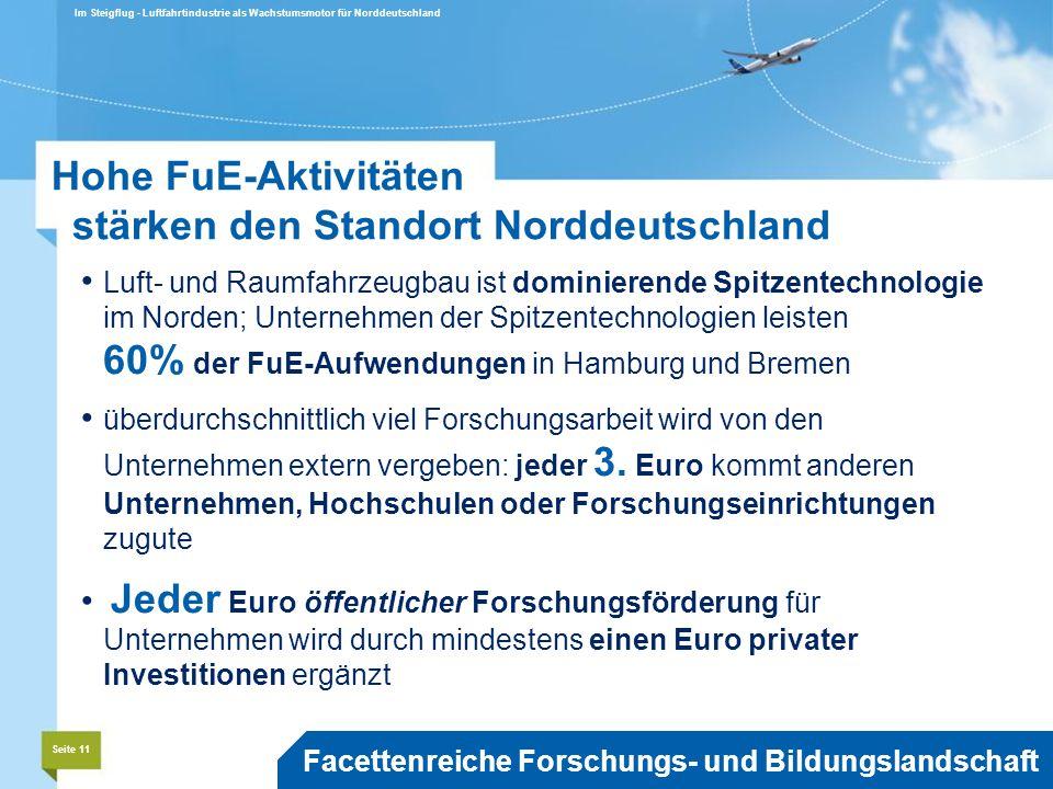 Hohe FuE-Aktivitäten stärken den Standort Norddeutschland