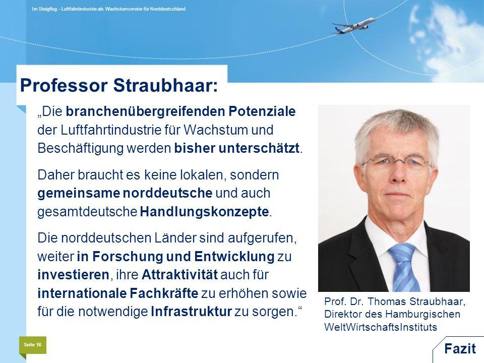 Professor Straubhaar: