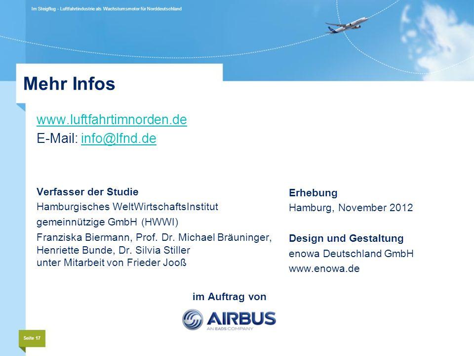 Mehr Infos www.luftfahrtimnorden.de E-Mail: info@lfnd.de