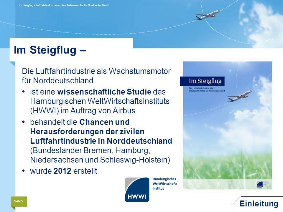 Im Steigflug - Luftfahrtindustrie als Wachstumsmotor für Norddeutschland