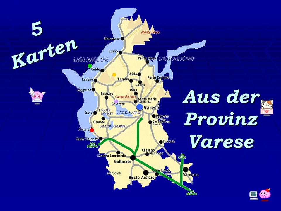 5 Karten Aus der Provinz Varese