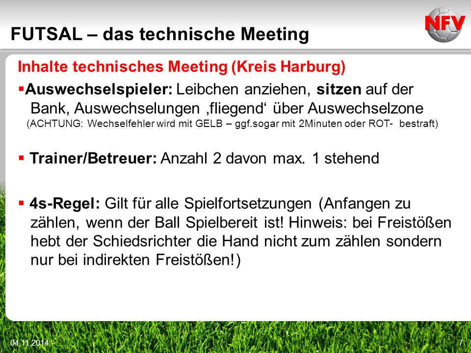 FUTSAL – das technische Meeting