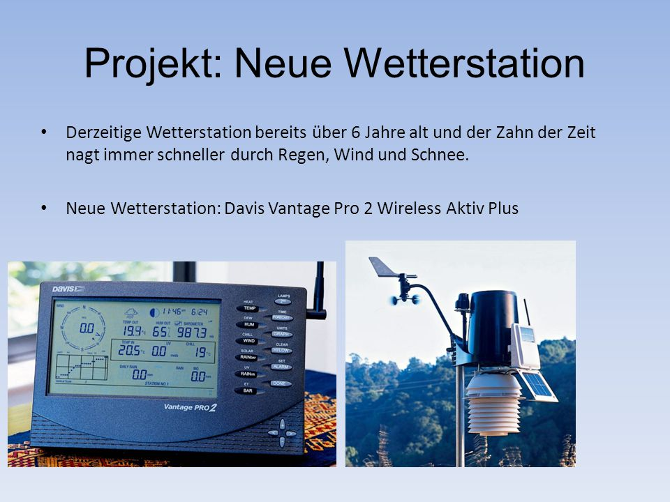 Projekt: Neue Wetterstation